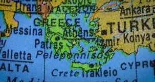 在地球的希腊国家地区地图 股票视频