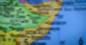 在地球的索马里国家地区地图 股票视频
