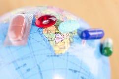 在地球的医学 免版税库存图片