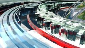 在地球附近的飞行每计算机控制学的未来 Loopable 皇族释放例证
