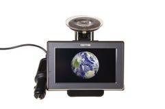 在地球gps现代航行卫星附近 免版税库存照片