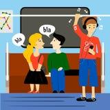在地铁火车里面的人们 库存图片