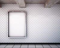在地铁的大模型广告牌 3d 免版税库存照片