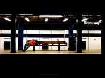 在地铁的无家可归者 图库摄影