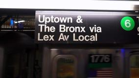 在地铁的火车 影视素材