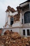 在地震以后的Basantapur Durbar广场 免版税库存照片