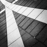 在地面上的几何线 免版税图库摄影