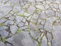在地面上的小石头在法兰克福  免版税库存照片