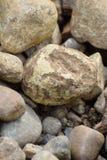 在地面上的岩石 库存图片