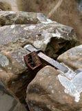 在地面上的挂锁 免版税图库摄影