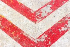 在地面上的标志 免版税库存图片