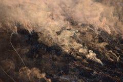 在地面上的烟 免版税图库摄影