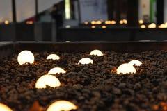 在地面上的电灯泡 免版税库存图片