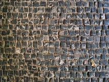 在地面上的鹅卵石纹理 库存照片