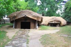 在地面埋没的村庄 库存照片