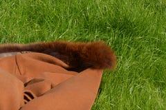 在地面的毛线衣 免版税库存照片