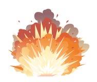 在地面的炸弹爆炸 皇族释放例证