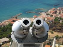 在场面的望远镜 库存照片