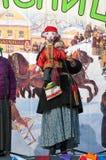 在场面的Petrushka 免版税库存照片