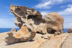 在坎加鲁岛,南澳大利亚的卓越的岩石 库存照片