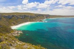 在坎加鲁岛,南澳大利亚的美丽的海湾 库存照片