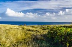 在坎彭,叙尔特岛海岛附近的海岸 免版税图库摄影