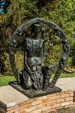 在坎波斯附近雕刻一部分的露天博物馆费利西亚Leirner的汇集,做Jordão 库存照片
