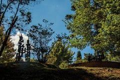 在坎波斯附近露天雕刻博物馆费利西亚Leirner,做Jordao 免版税库存照片