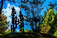在坎波斯附近露天雕刻博物馆费利西亚Leirner,做Jordão 图库摄影