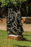 在坎波斯附近露天雕刻博物馆费利西亚Leirner,做Jordão 库存图片