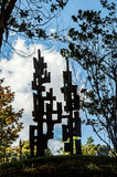 在坎波斯附近露天雕刻博物馆费利西亚Leirner,做Jordão 免版税库存图片