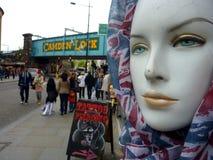 在坎登锁伦敦的时装模特 免版税库存图片