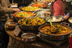 在坎登镇暴露的传统食物 库存照片