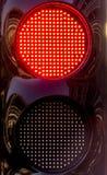 在坑车道的红绿灯 免版税图库摄影
