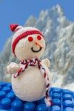 在块玩具的雪人 库存图片