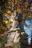 在坟墓的石天使 免版税库存照片