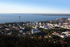 在坦佩雷视图的空中芬兰 库存图片