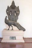 在坦贾武尔宫殿的Murugan阁下雕象 免版税图库摄影