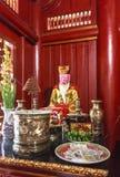 在垂悬的国王Temple Phu Tho的一个雕象 免版税库存图片