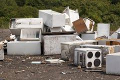 在垃圾填埋的装置 免版税库存图片