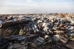在垃圾填埋的垃圾 库存图片