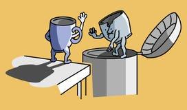 在垃圾的杯 免版税库存图片