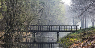 在垄沟的桥梁 免版税图库摄影
