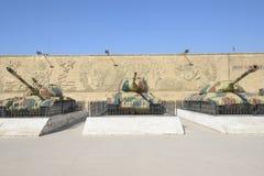 在埃及全国军事博物馆的坦克 库存照片