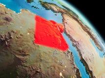 在埃及的早晨地球上 向量例证