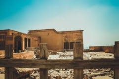 在埃及的老大厦 库存图片
