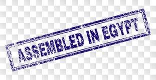 在埃及长方形邮票装配的难看的东西 库存例证