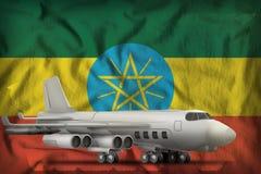 在埃塞俄比亚州旗子背景的轰炸机 3d?? 向量例证