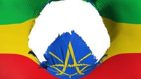 在埃塞俄比亚旗子的大孔 皇族释放例证