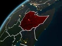 在埃塞俄比亚的夜 向量例证